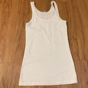Standard James Perse White Scoopneck Tank Top
